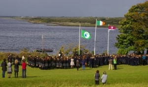 Raising of the Green School Flag